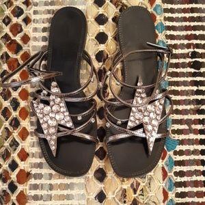Zara Jeweled Sandals